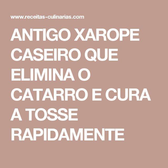 ANTIGO XAROPE CASEIRO QUE ELIMINA O CATARRO E CURA A TOSSE RAPIDAMENTE