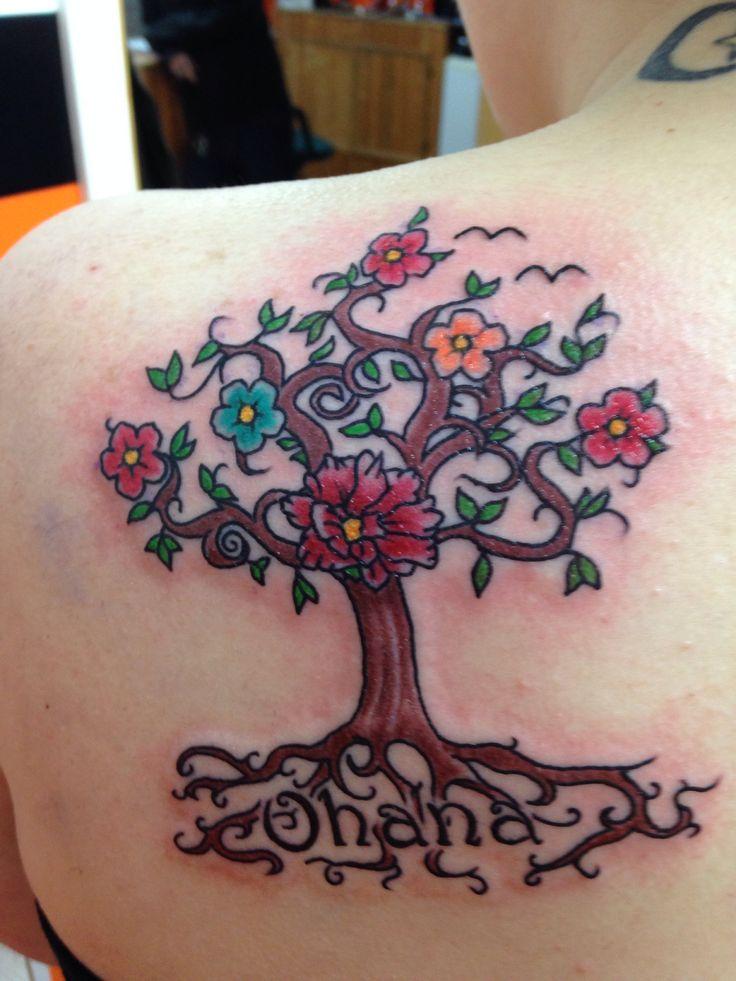 Family tree tattoo cherub tattoo family tree tattoo