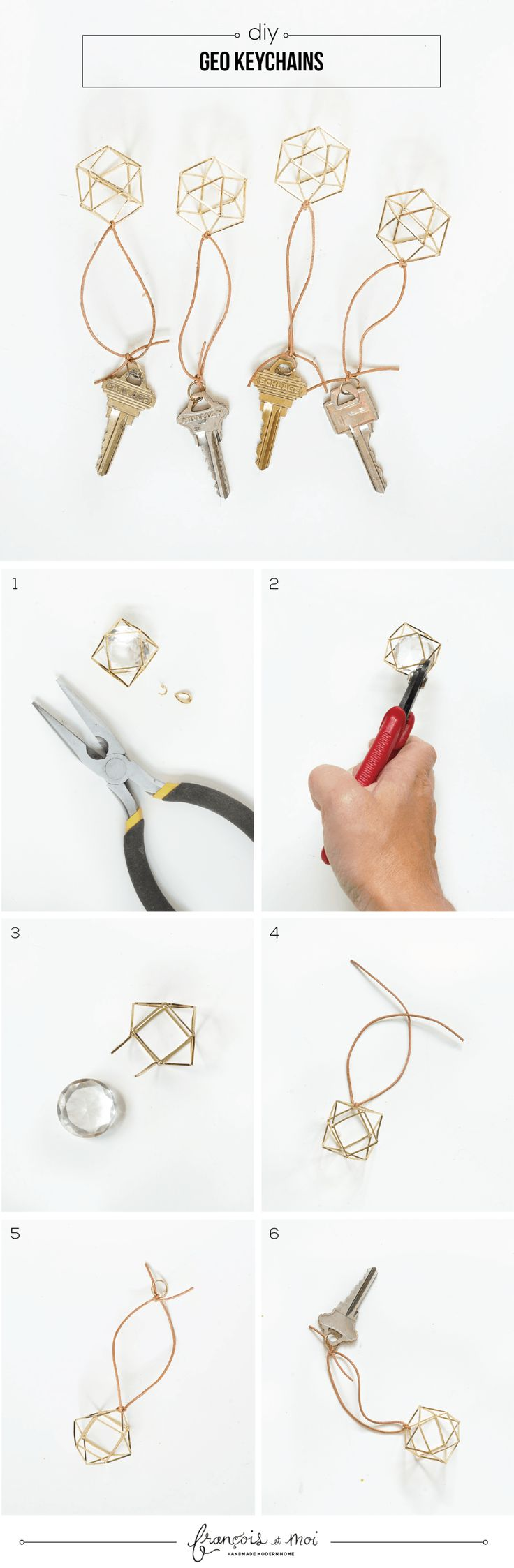 DIY Geometric Keychain Tutorial