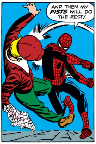 Spidey puts the smack down, Steve Ditko, Amazing Fantasy #15