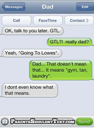 funny texts: Funny Texts, Funny Funny,  Internet Site,  Website, Parents Texts, Funny Stuff, Gym Tans Laundry, My Dads, Can'T Stop Laughing