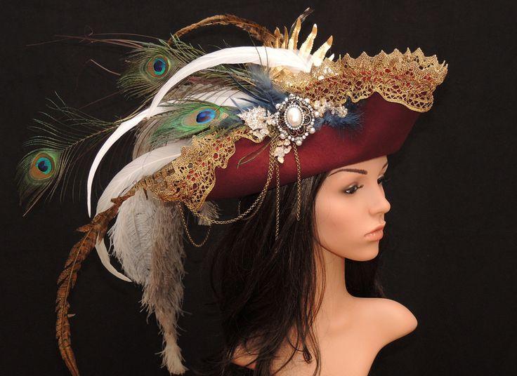 Vintage Dreispitz-historischer Hut-Barock-Karneval von Maskenzauber & Erlebenskunst auf DaWanda.com