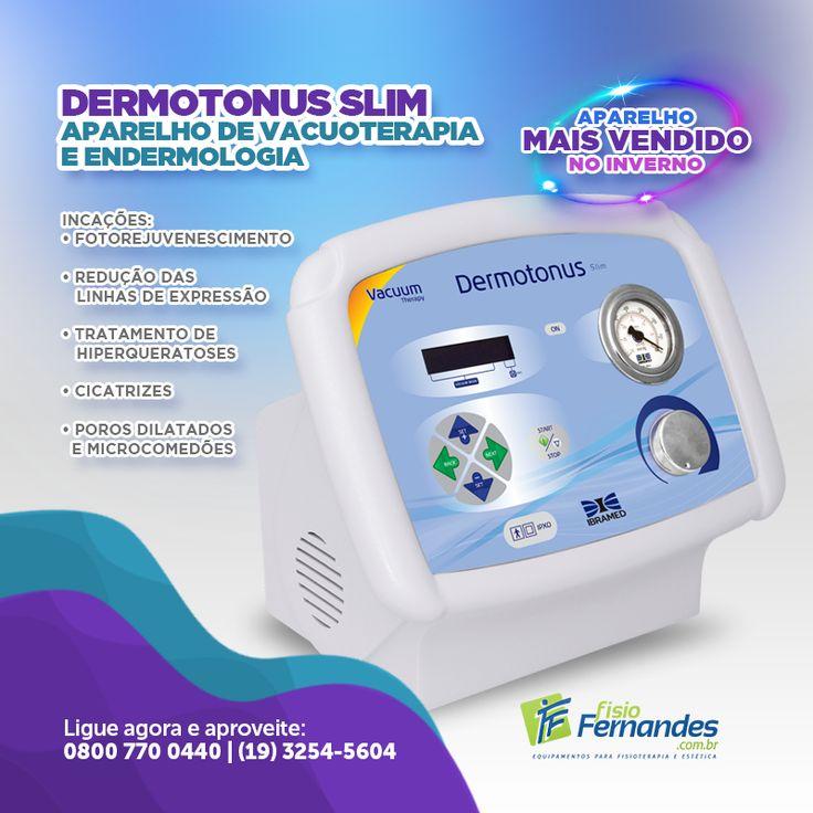Tenha o Dermotonus Slim na sua Clínica. BENEFÍCIOS - Permite aplicação de Peeling Diamantado; - Fácil aplicação; - Segurança e praticidade; - Não Invasivo; - Resultados visíveis na primeira sessão.