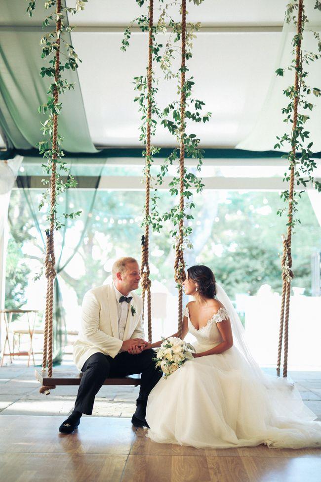 Indoor wedding swings
