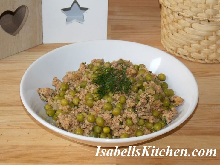 Easy peas, ground beef and couscous skillet – isabell's kitchen