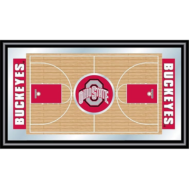 Trademark Global, Inc. Ohio State Framed Basketball Court Mirror