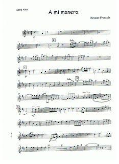 todoinstrumento/partiturasgratis: a mi manera saxofon alto