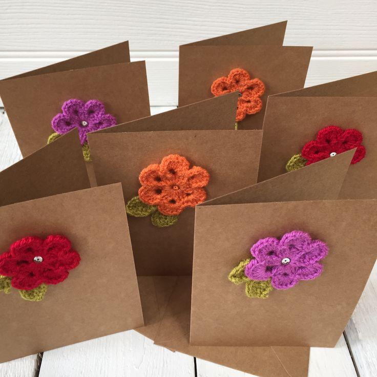 Crochet Flower - Handmade Card