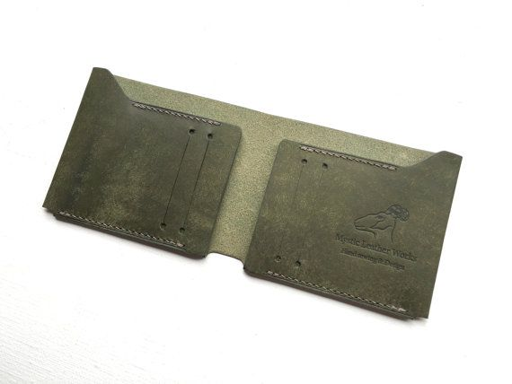 billfold wallet Simple Wallet minimalist by MysticLeatherWorks