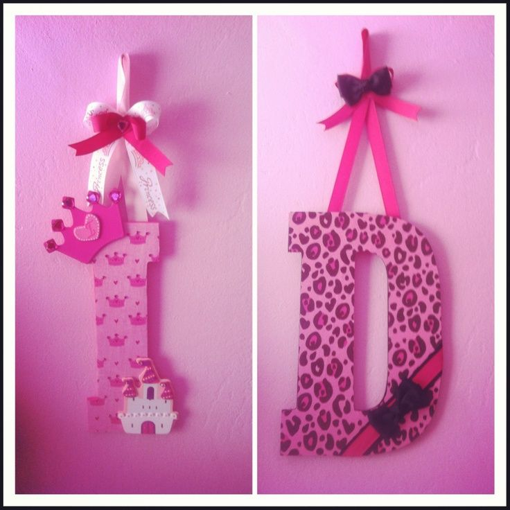 nursery letters | Princess and cheetah nursery letters.