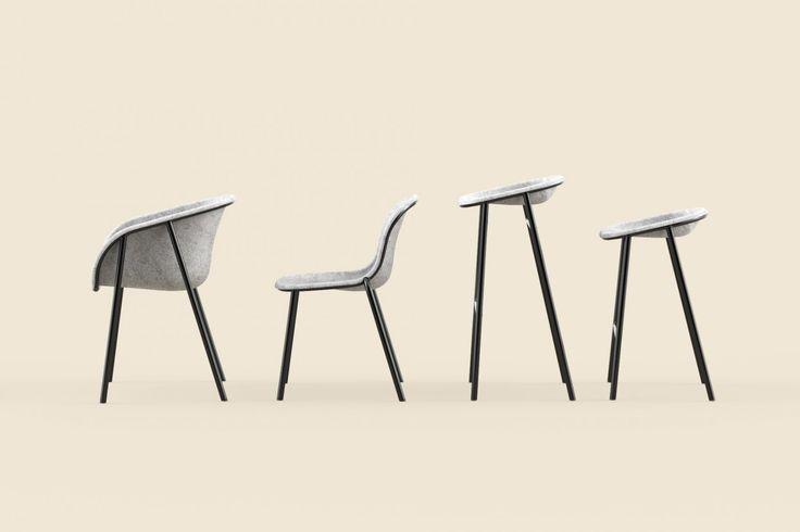 LJ Series by De Vorm. PET felt furniture.