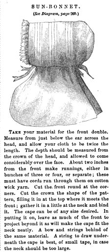 Godey's Lady's Book 1857 Sun-Bonnet Tutorial (another Pioneer Bonnet Pattern)