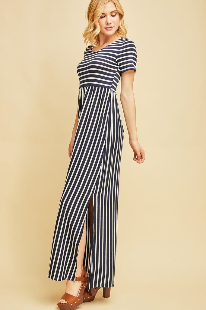 591a1fb2a0ee Amy Striped Maxi Dress in 2019