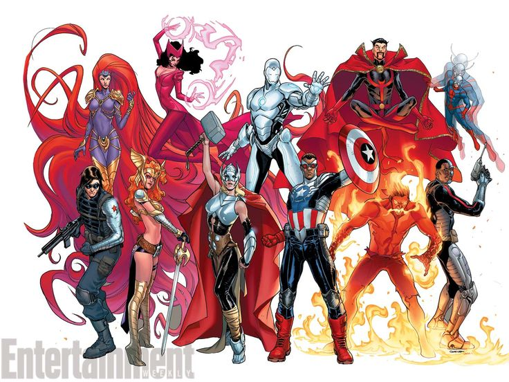 Female Thor, Sam Wilson Cap and More Assemble for Avengers NOW! - SuperHeroHype