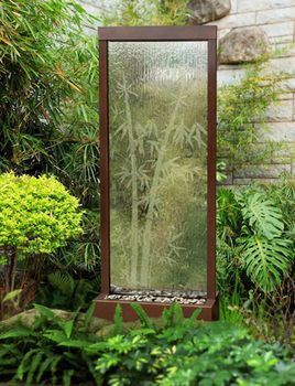 4' Gardenfall Etched Bamboo Water Fountain