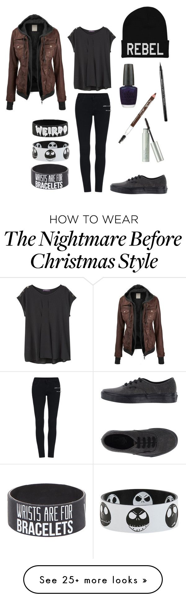 """""""Dark"""" by rebelious-aquarius on Polyvore featuring Violeta by Mango, Vans, OPI, Maybelline, Origins, women's clothing, women's fashion, women, female and woman"""