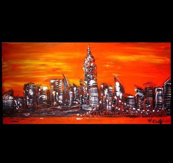 X-Large  NYC original oil painting by Mark Kazav on by kazavart