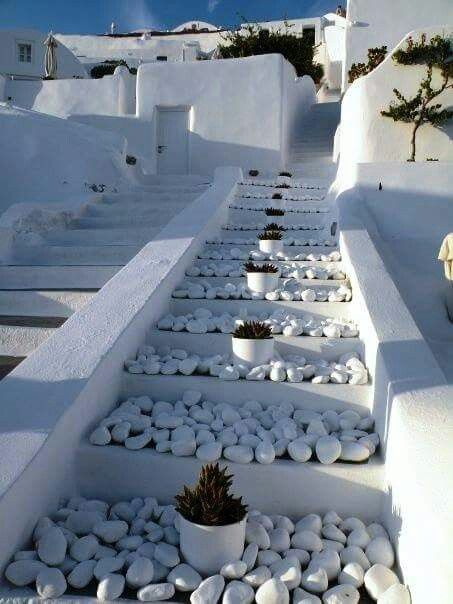 Luxury stairs in Santorini