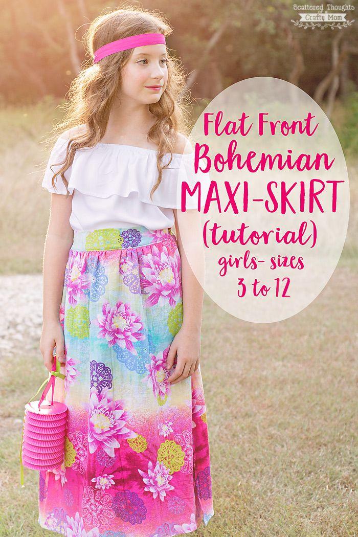 Bohemian Maxi Skirt Tutorial (sz 3 to 12) - Best 25+ Maxi Skirt Tutorial Ideas Only On Pinterest Diy Maxi