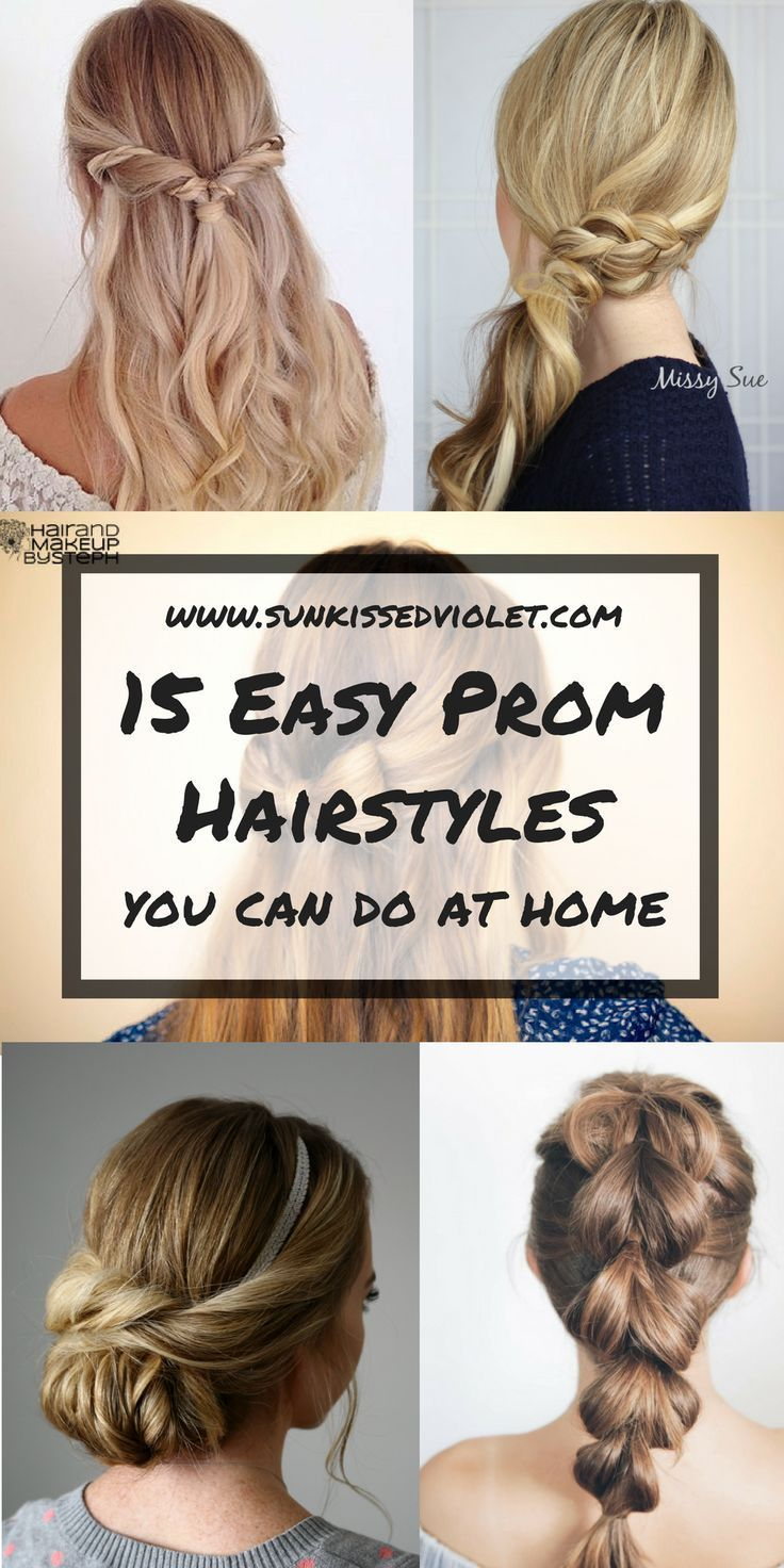 15 Easy Prom Hairstyles For Medium To Long Hair You Can Diy At Home With Step To Step Tutorials Prom Hair Styles Prom Hairstyles For Long Hair Easy Hairstyles