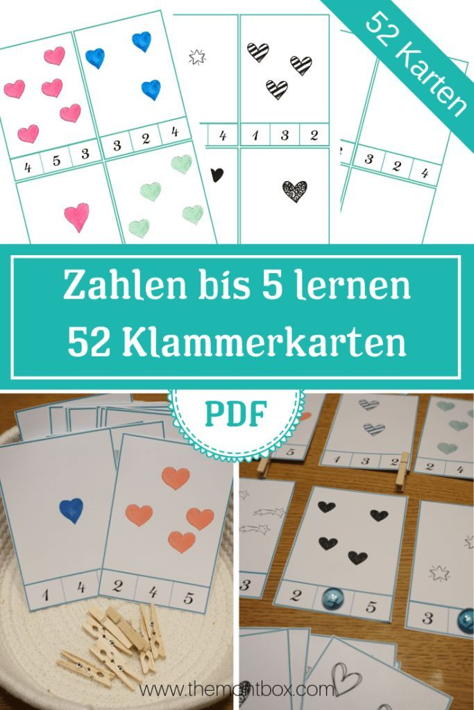 playfully learn the numbers – 52 clip cards – montessori-inspired and kin …