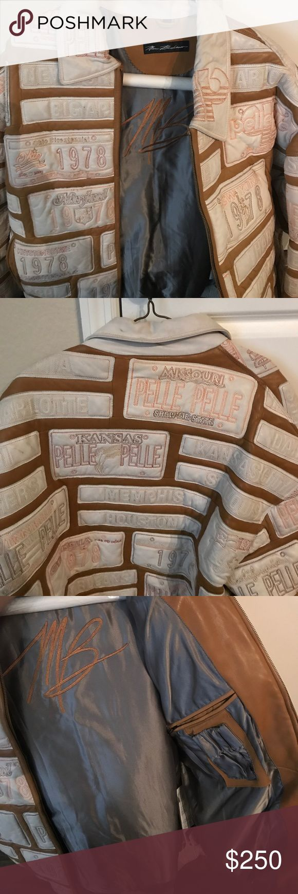 """100% Leather Pelle Pelle Jacket """"Marc Buchanan"""" Used size 48. Great condition! Very warm and limited edition. Jackets & Coats"""