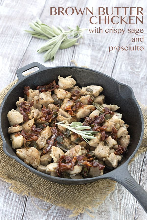 Your whole family is going to love this quick and easy keto chicken dish with browned butter, sage, and prosciutto. LCHF Banting THM recipe. via @dreamaboutfood