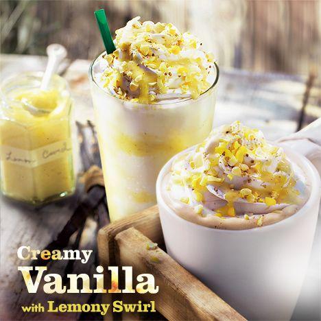 Creamy Vanilla with Lemon Swirl from Starbucks Japan