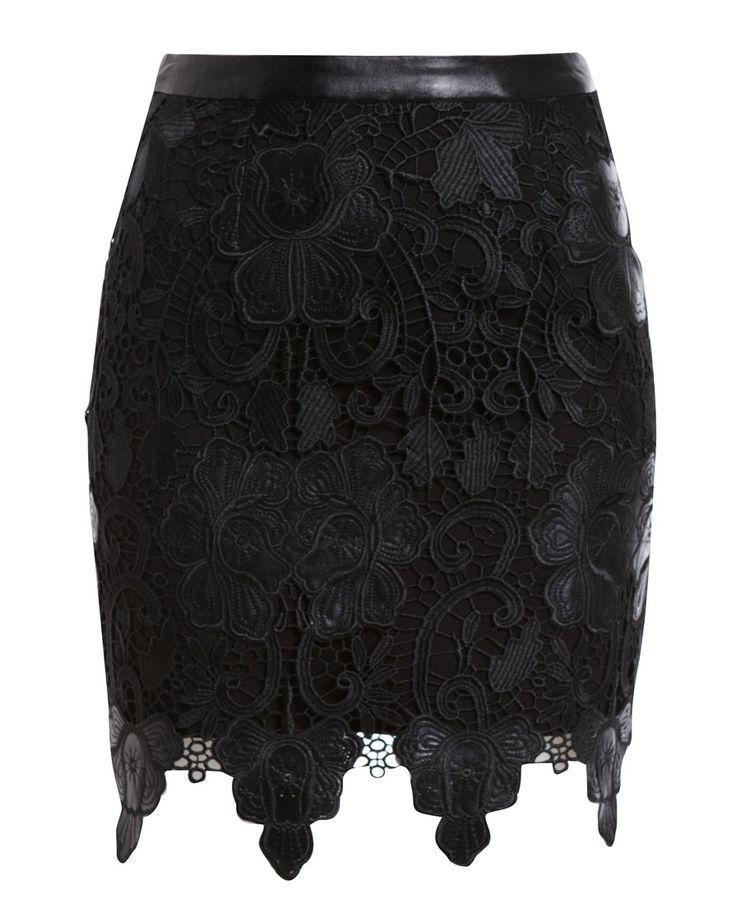 Scalloped Lace Skirt / Bardot #fashion #skirt #lace