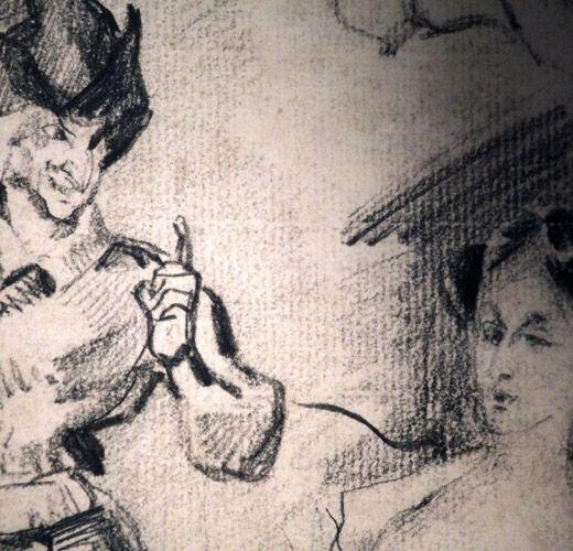 Dessin original de Delacroix pour la traduction française du Faust de Goethe (Paris, 1828). #bodmerlab