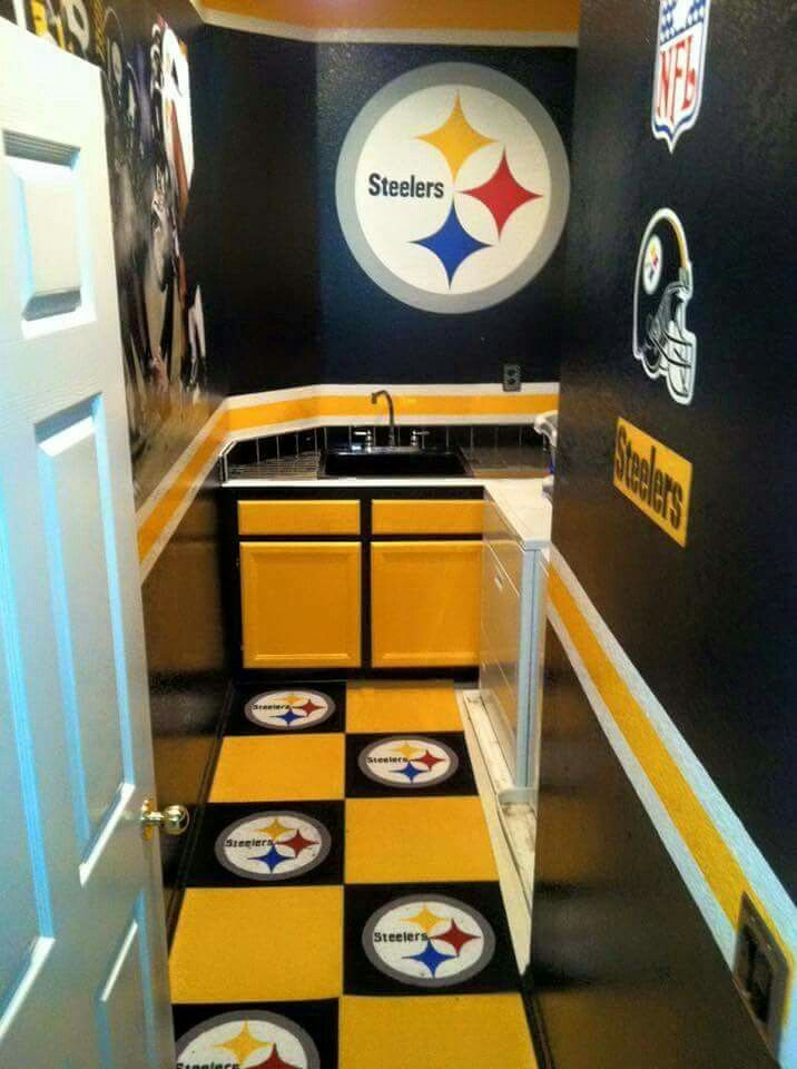 Man Cave Ideas Walmart : Decor for the wo man cave pittsburgh steelers