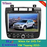 Free Shipping 2015 Top Wince Car Entertainment System DVD Player Video For VW Touareg 2010- With GPS Navigation BT Free Map