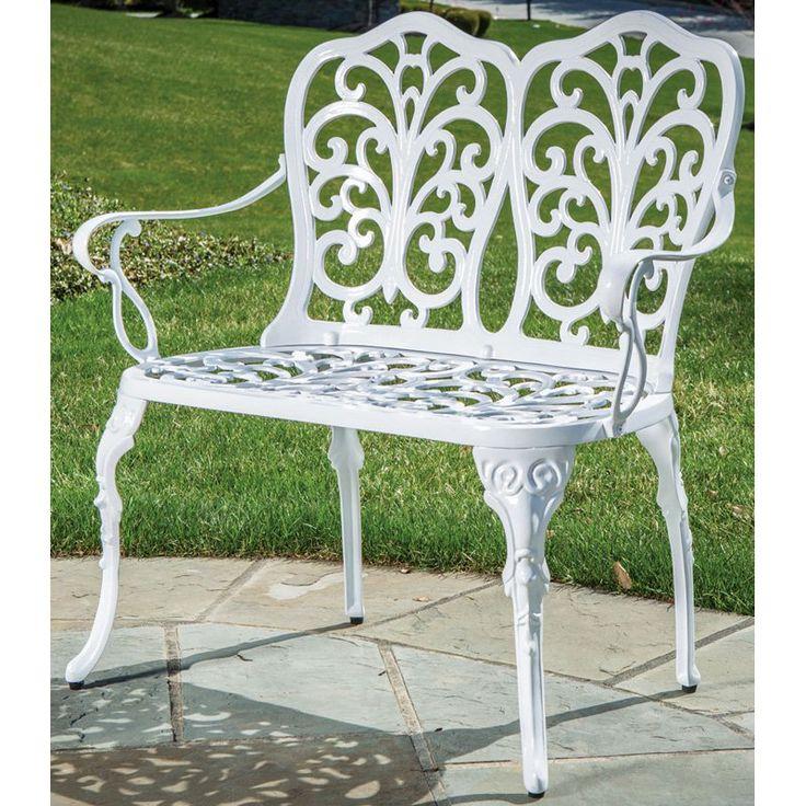 Garden Furniture White Metal best 25+ metal garden benches ideas only on pinterest | what is