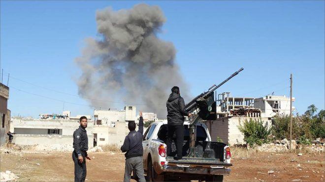 بعد خسائره في إدلب النظام يهاجم ريف حلب الجنوبي Train