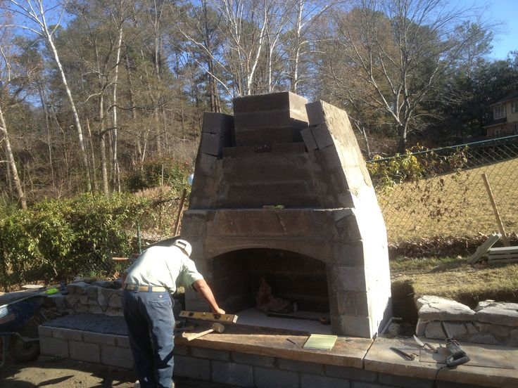 Half way there build your own outdoor fireplace pinterest - Build your own outdoor fireplace ...