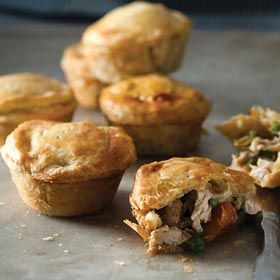 Muffin-tray chicken pies