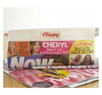 Just tear off and slide in your favourite magazine cover to create your own personalised pencil case.... Back to school cool.
