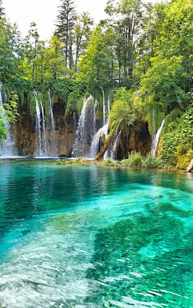 Beautiful waterfall in deep forest – Croatia