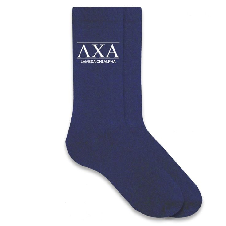 Lambda Chi Alpha Fraternity Letters on Men's Dress Socks