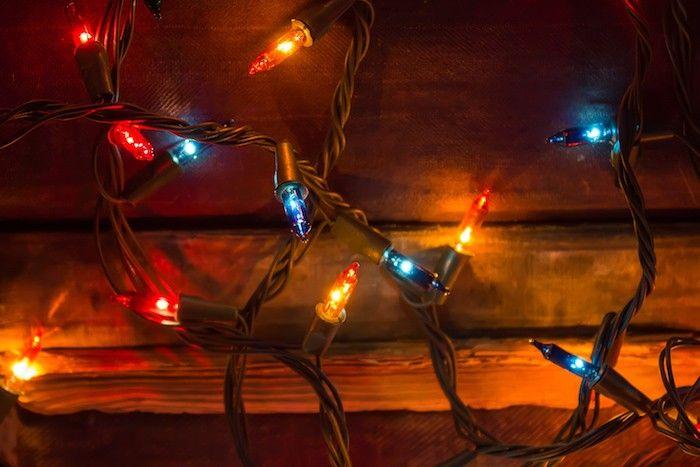 lichterketten weihnachtsbaum weihnachtsdeko ideen