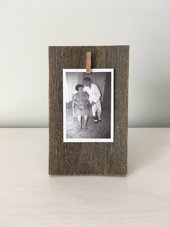 Small Modern Rustic Wood Home Accessories Picture Frame Reclaimed Barn