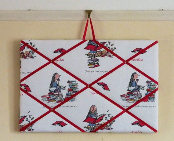 Fabric notice board fabric memo board by ButterflyCreations4