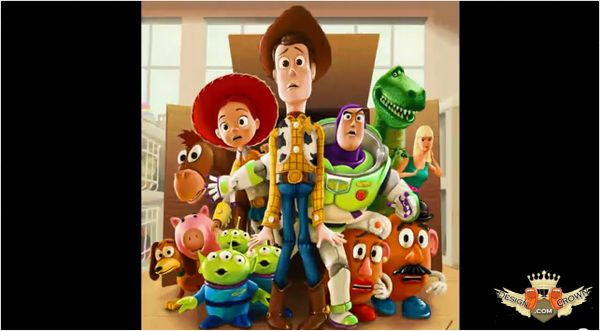 Toy Story characters in speed painting Photoshop video tutorial
