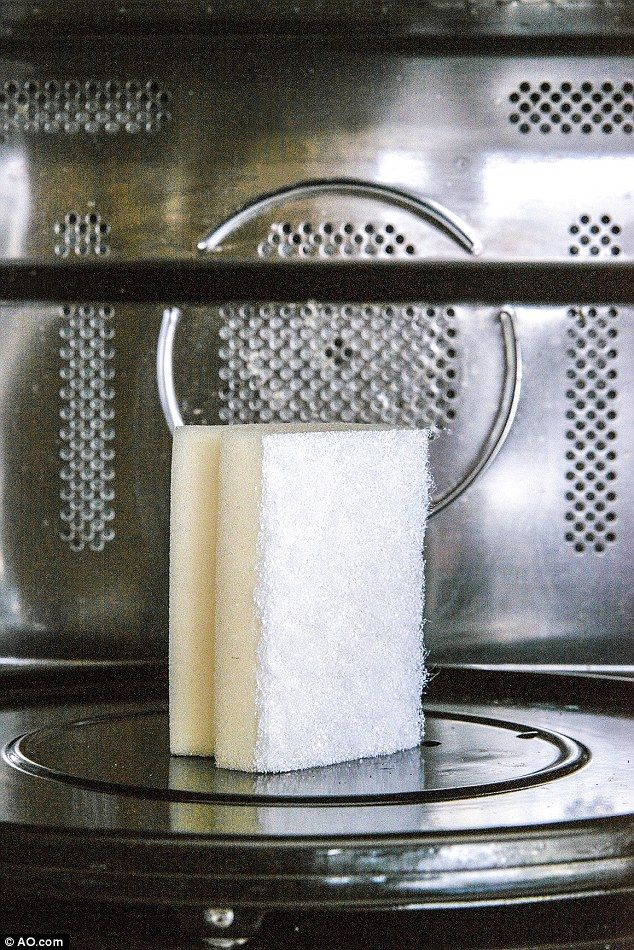Microwaving your sponges will kill bacteria and give them a new lease of life