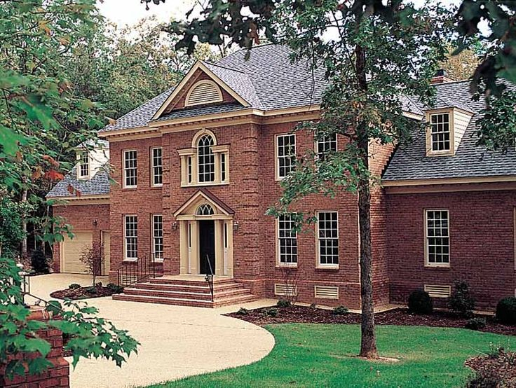 House Plans Brick Colonial House Plans