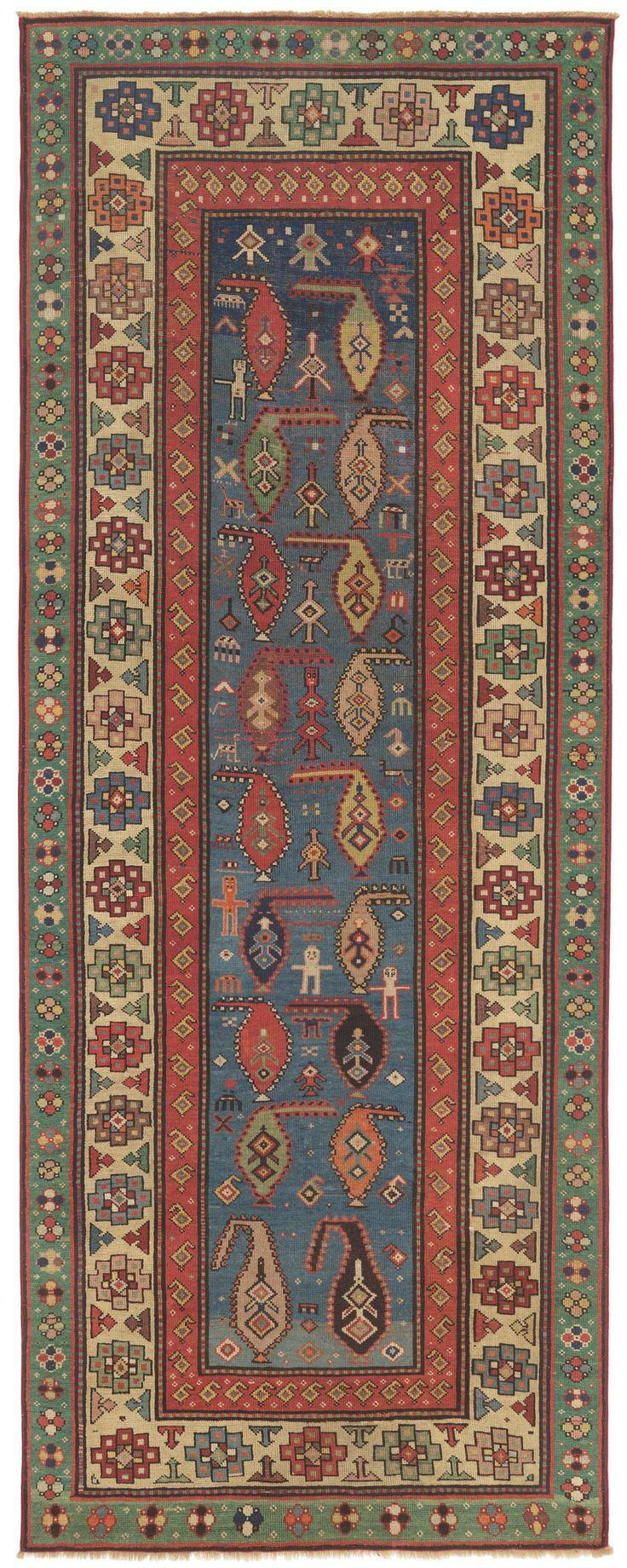 Rare Collectible Antique Carpet - Caucasian Saliani Art Rug