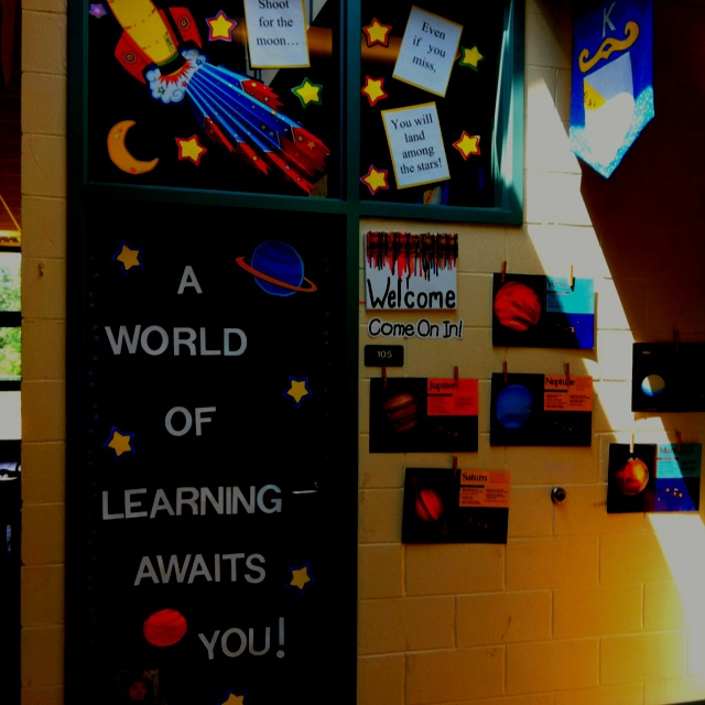 My back to school door--what about-Third graders are out of this world with names on stars or planet shapes?