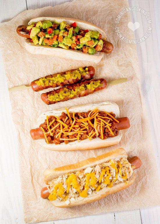 ¿Fiesta de BBQ? Te van a encantar estas recetas de Fiesta de Hot Dogs (Perros Calientes) para servir a tus invitados.