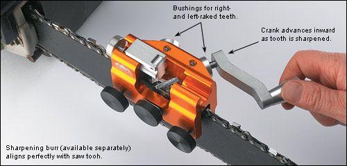 Hand-Crank Chain-Saw Sharpener - Woodworking