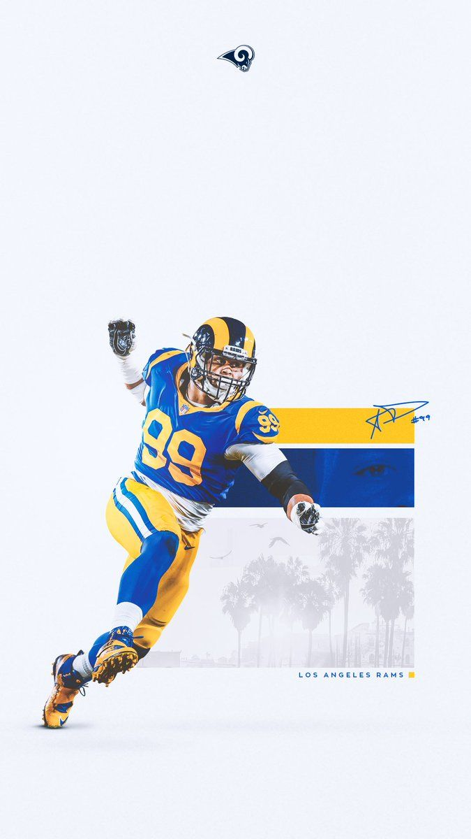 Los Angeles Rams On Twitter 2x Defensive Player Of The Year Sports Graphic Design Sports Design Inspiration Sport Poster Design